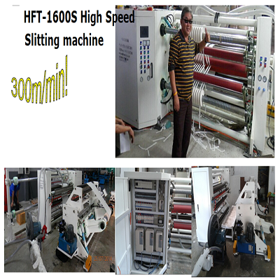 High speed slitting machine for paper and film
